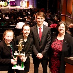 Middle School Speech Team Captains with coach, Debbie Simon