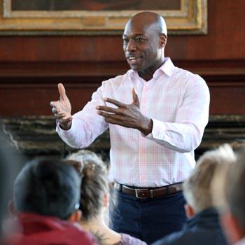 There is No Shame in Seeking Help, Talbot Speaker Hakeem Rahim Tells Milton Students