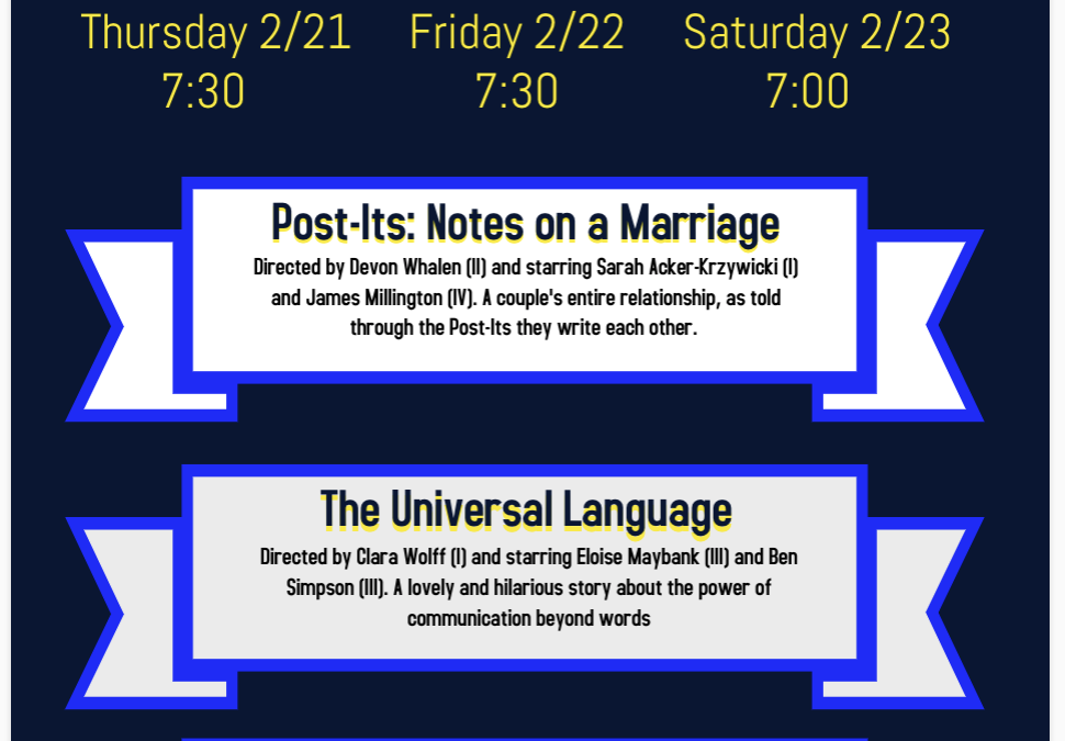 This Weekend, Students Direct One-Acts
