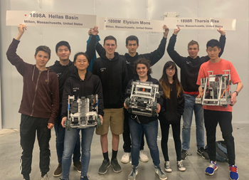 After a Season of Wins, Milton's Robotics Team Takes on the World